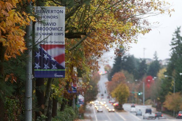 My city, Beaverton, has banners lining one of the major boulevards.
