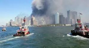 The evacuation of lower Manhattan