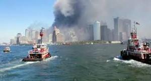 The evacuation of lower Manhattan