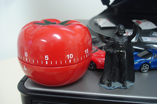 A pomodoro timer and Darth Vadar too? Snap! (Photo Credit: mlpeixoto