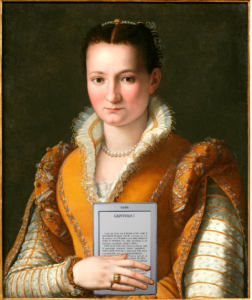 Bianca Cappello De Medici and her Kindle! Photo: Mike Licht (Creative Commons Flickr)