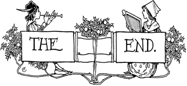 free vintage digi stamp_the end