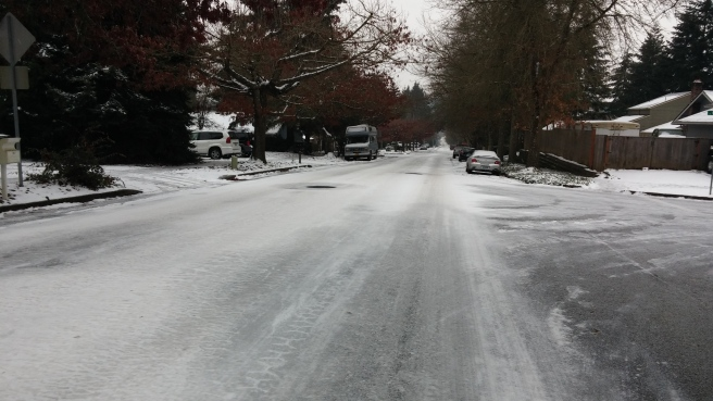 Don't lose momentum on an icy street!